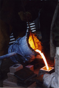 Image of casting ladle